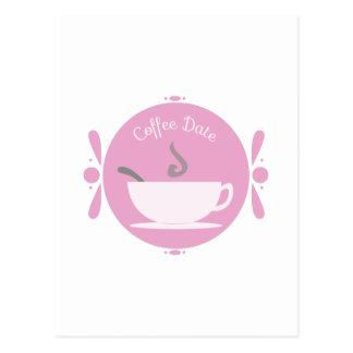 Kaffee-Datum Postkarte