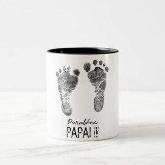 Kaffee des Papas Zweifarbige Tasse