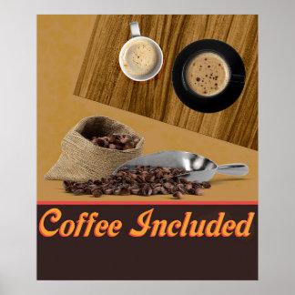 Kaffee eingeschlossen poster