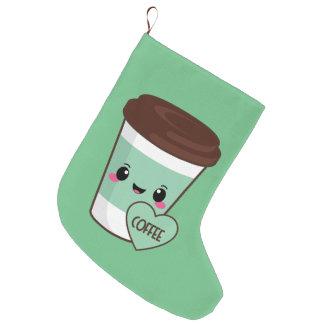 Kaffee Emoji Liebhaber Großer Weihnachtsstrumpf