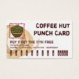 Kaffee-Fleck-Logo-Getränk-Lochkarte Visitenkarten