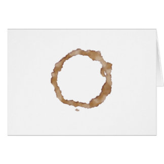 Kaffee-Fleck-Muster Grußkarte