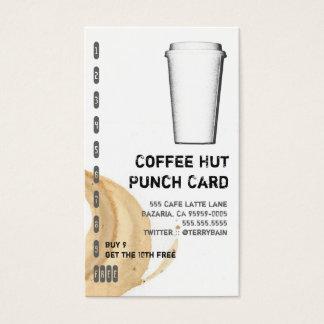 Kaffee-Fleck und gehen Schalen-Getränk-Lochkarte Visitenkarten