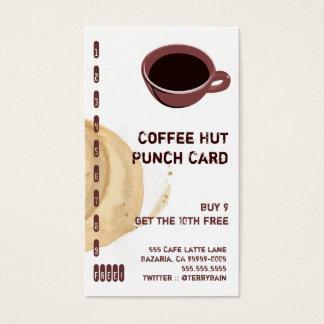 Kaffee-Fleck und Schalen-Getränk-Lochkarte Visitenkarten
