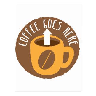 Kaffee geht hier! postkarte