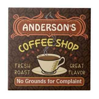 Kaffee-Geschäft mit der Tasse schaffen Ihr eigenes Keramikfliese