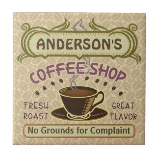 Kaffee-Geschäft mit Schale schaffen Ihr eigenes Keramikfliese