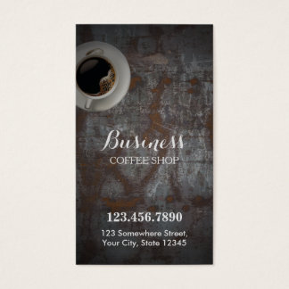 Kaffee-Geschäfts-Vintager rostiger Visitenkarten