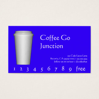 Kaffee-Getränk-Durchschlag/Loyalitäts-Karte Visitenkarten