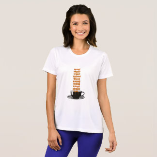 Kaffee getropft T-Shirt