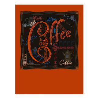 Kaffee-Gewürz Postkarten