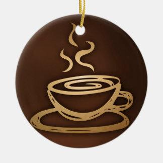 Kaffee in meiner Schale Keramik Ornament
