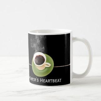 Kaffee ist ein Verfasser-Herzschlag Tasse