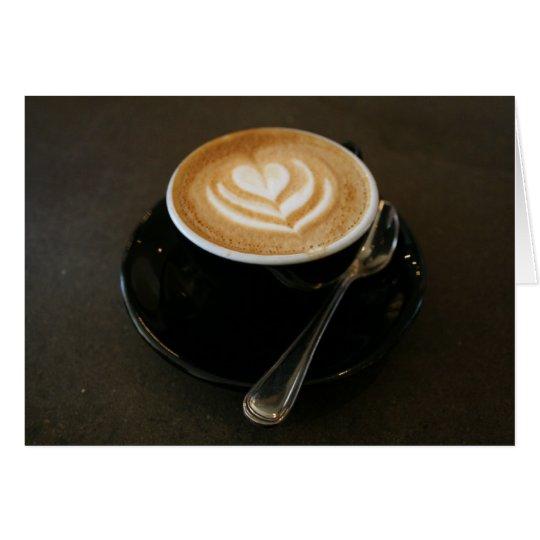 Kaffee ist Liebe - notecard Karte