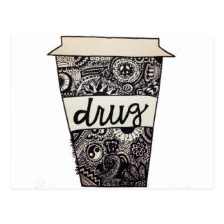 """Kaffee ist meine Drogen-"" Entwurf Postkarte"