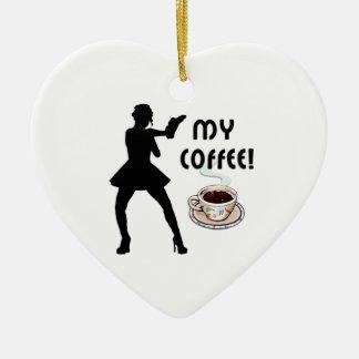 Kaffee Keramik Ornament