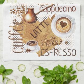 Kaffee Latte Cappuccino Handtuch