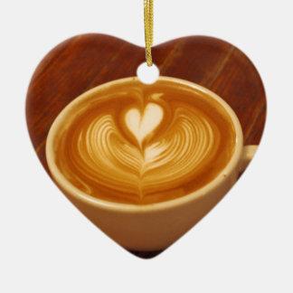 Kaffee-Liebe Keramik Ornament