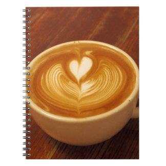 Kaffee-Liebe Spiral Notizblock