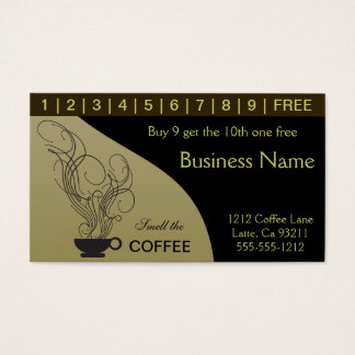 Kaffee-Lochkarten Visitenkarte