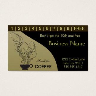 Kaffee-Lochkarten Visitenkarten