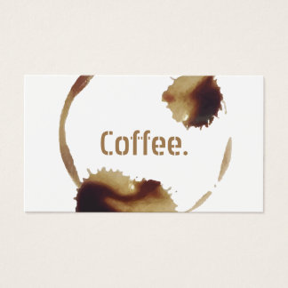 Kaffee-Loyalitäts-Durchschlag Visitenkarte