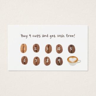 Kaffee-Loyalitäts-Durchschlags-einfache Ebene Visitenkarten