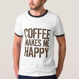 Kaffee macht mich glücklich T-Shirt