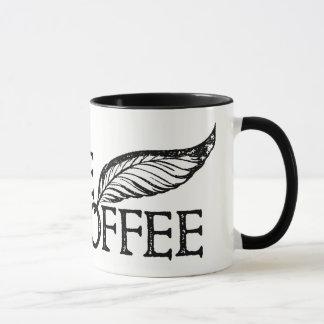 Kaffee oder nicht Kaffeeshakespeare-Briefmarke Tasse