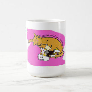 Kaffee oder Reise-Tasse (rosa Kitty-Logo) Kaffeetasse