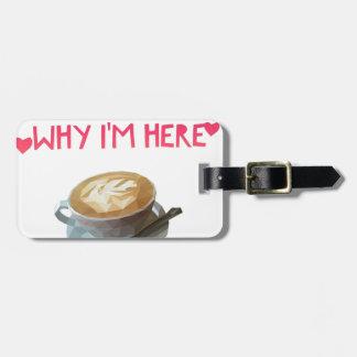 Kaffee OM anonymes betrunkenes Stipendium Kofferanhänger