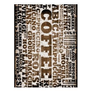 Kaffee Postkarte