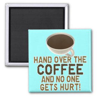 Kaffee Quadratischer Magnet