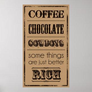 Kaffee, Schokolade, Cowboys… Poster