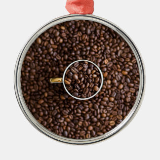 Kaffee Silbernes Ornament