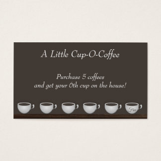 Kaffee-Sparungs-Loyalitäts-Karte Visitenkarte