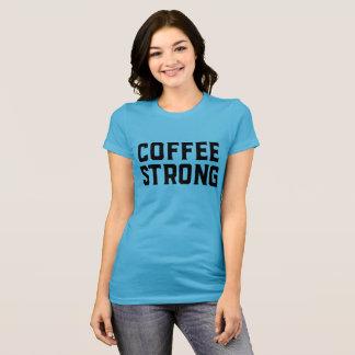 Kaffee-starkes kurzes Hülsen-T-Stück T-Shirt