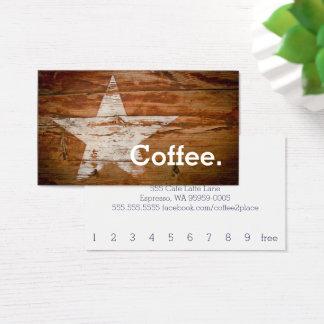 Kaffee-Stern-Loyalitäts-Kaffee-Lochkarte Visitenkarte