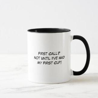 Kaffee-Tasse Begräbnis- Direktorn-zuerst Anruf Tasse