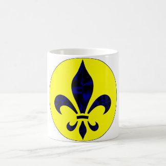Kaffee-Tasse Fleur De Lys Blue 1b Verwandlungstasse