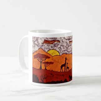 Kaffee-Tasse mit afrikanischer Landschaft Kaffeetasse