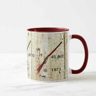Kaffee-Tasse mit Gewehren, die den Westen gewannen Tasse