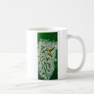 Kaffee-Tasse mit Summenvogel und Distel Kaffeetasse