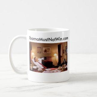 Kaffee-Tasse; ObamaMustNotWin.com Tasse