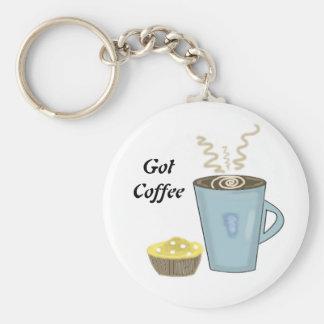 Kaffee-Tasse und Muffin Keychain Schlüsselanhänger