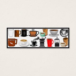 Kaffee-Tassen (addieren Sie Hintergrund-Farbe) Mini Visitenkarte