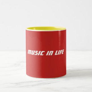 Kaffee-Tassen - Musik im Leben-Logo Zweifarbige Tasse