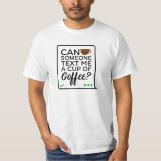 Kaffee-Text-T - Shirt