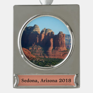Kaffee-Topf-Felsen I in Sedona Arizona Banner-Ornament Silber