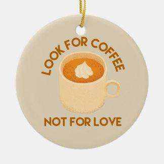 Kaffee über Liebe Keramik Ornament